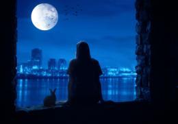 Enjoying moon light