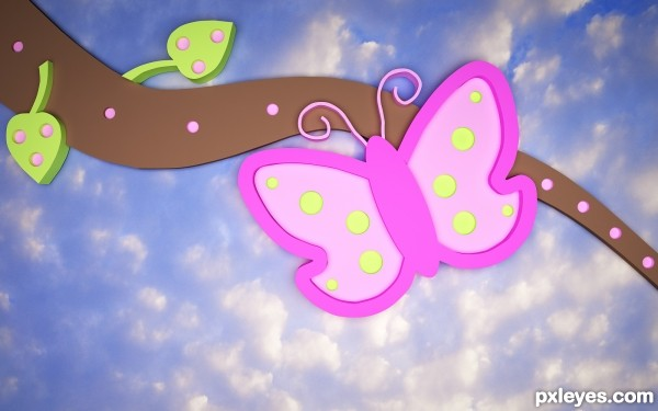 False Ceiling Butterfly