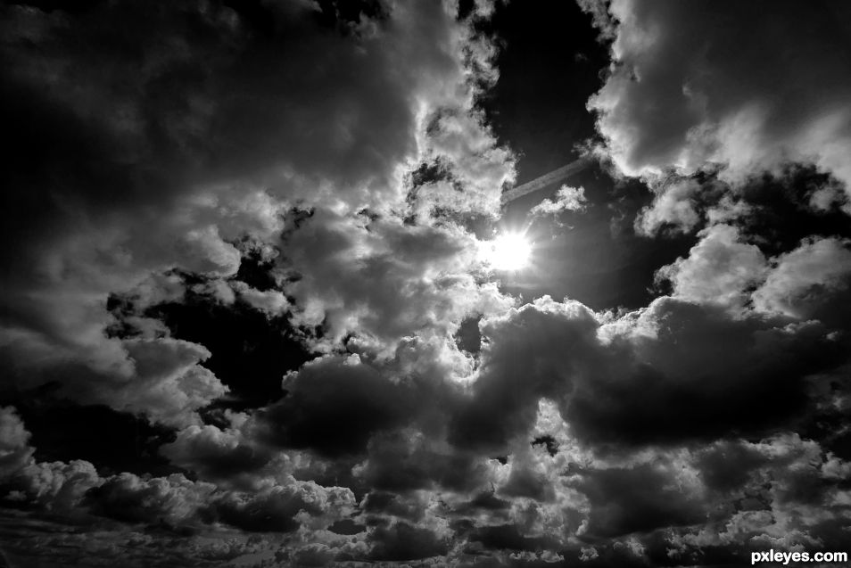 Clouds in B&W must be dramatic