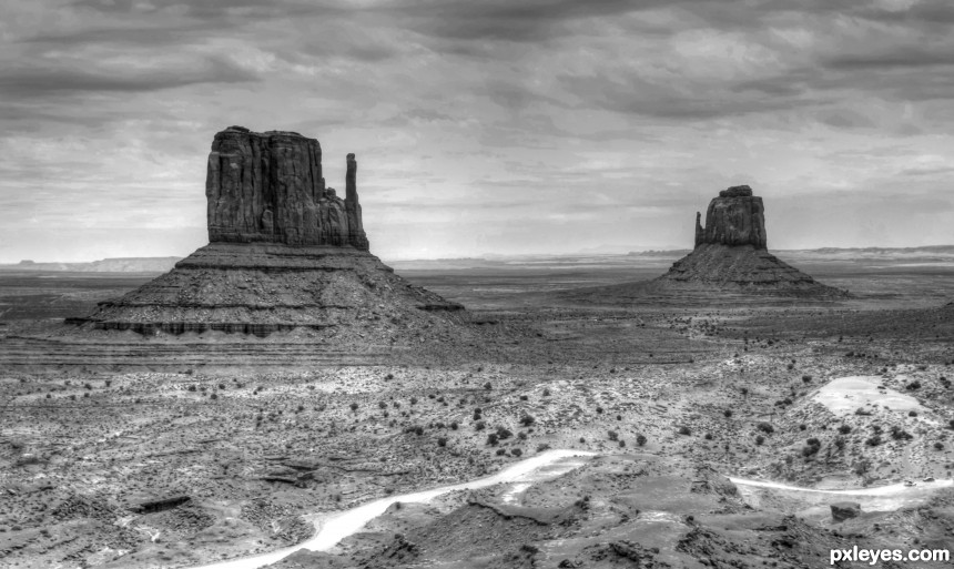 Monument Valley 2011 photoshop picture)