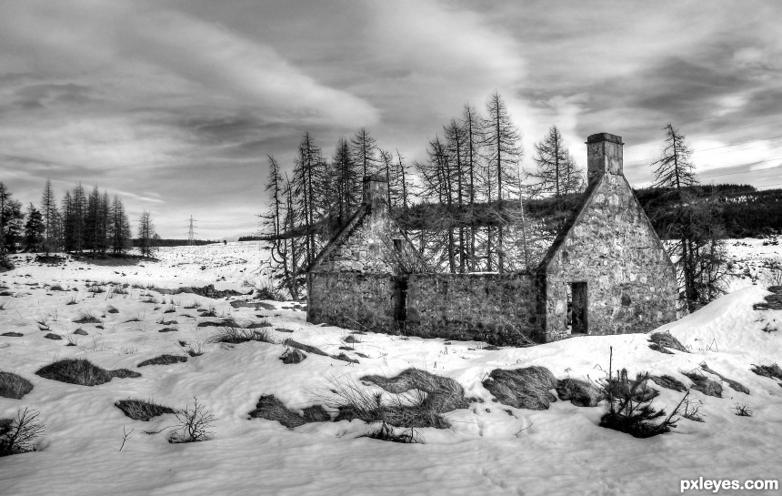 Ruin at Muckle Greens photoshop picture)