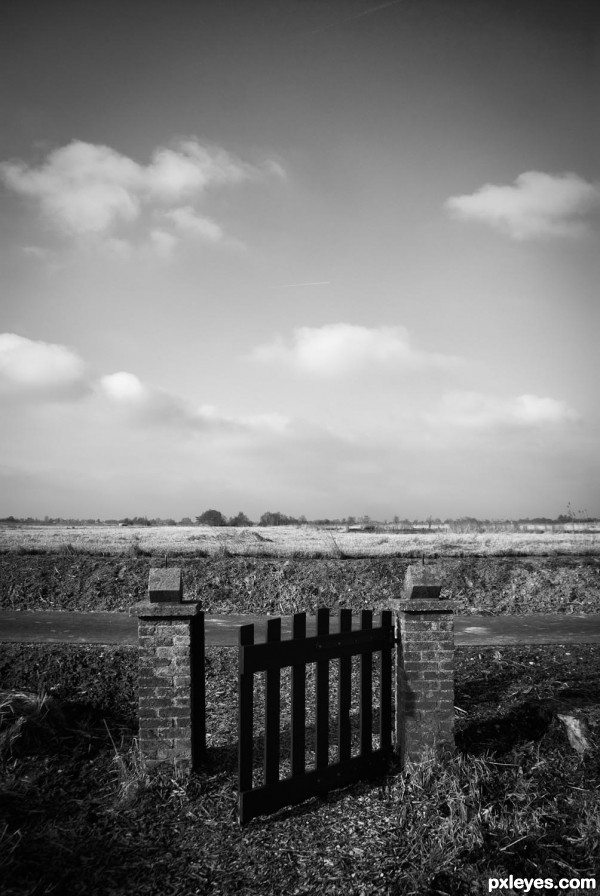 gate to nowhere...