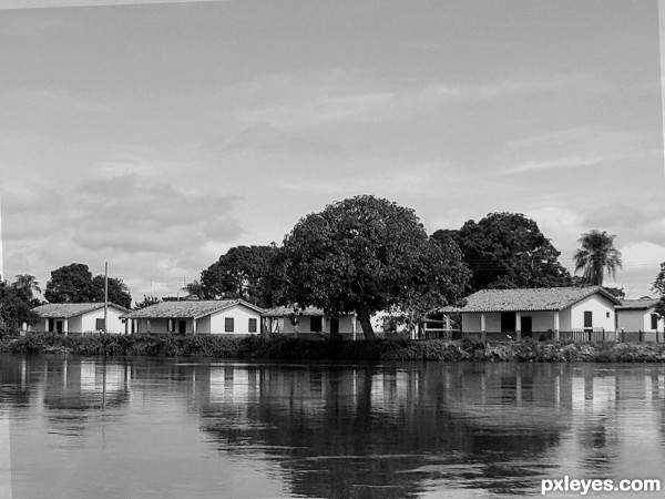 HOUSES IN THE RIVER