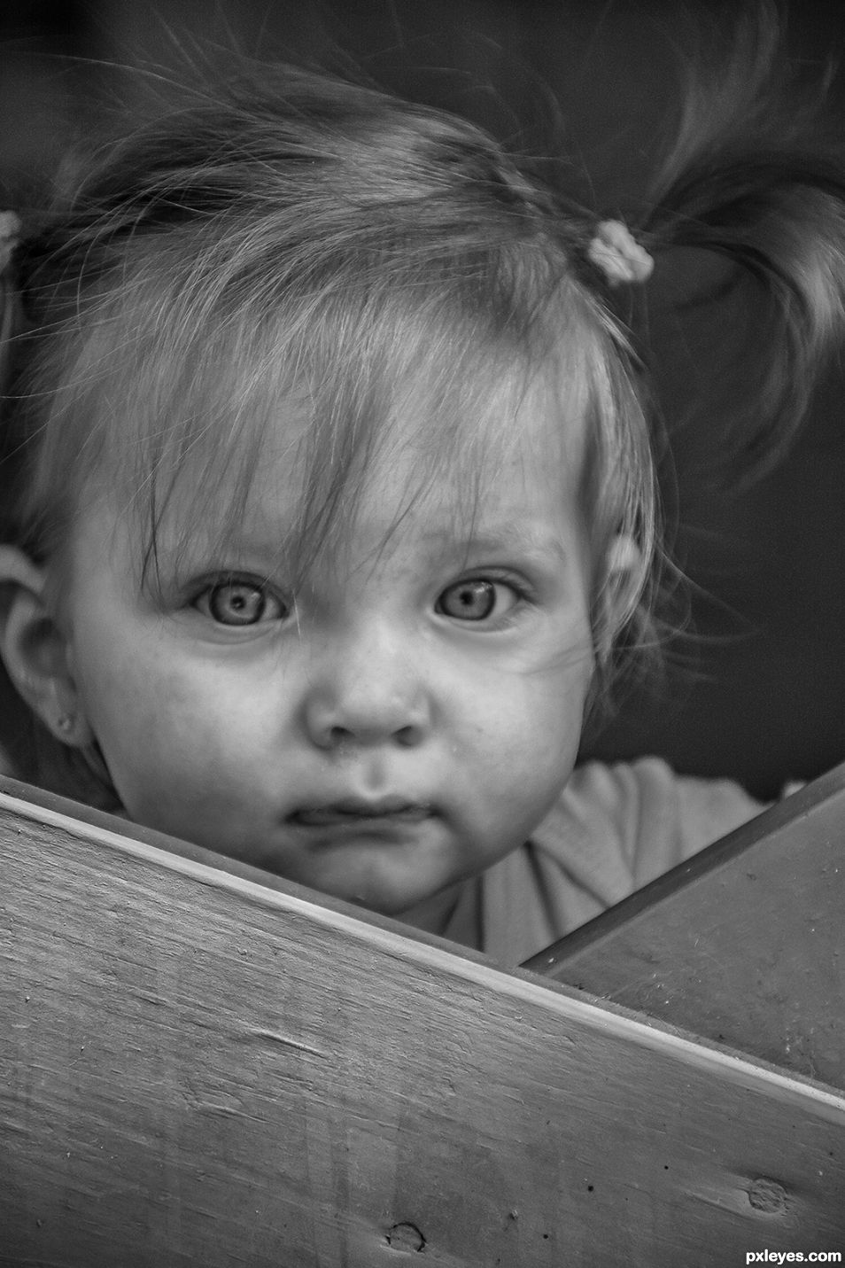 Gianna in black and white