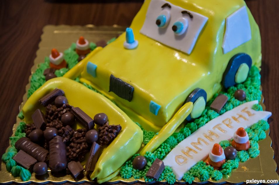 The Buldozer Cake