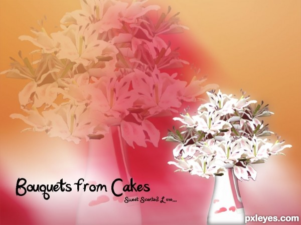 Bouquets from Cakes