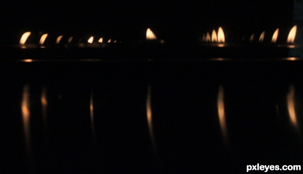 Beauty of lit candles