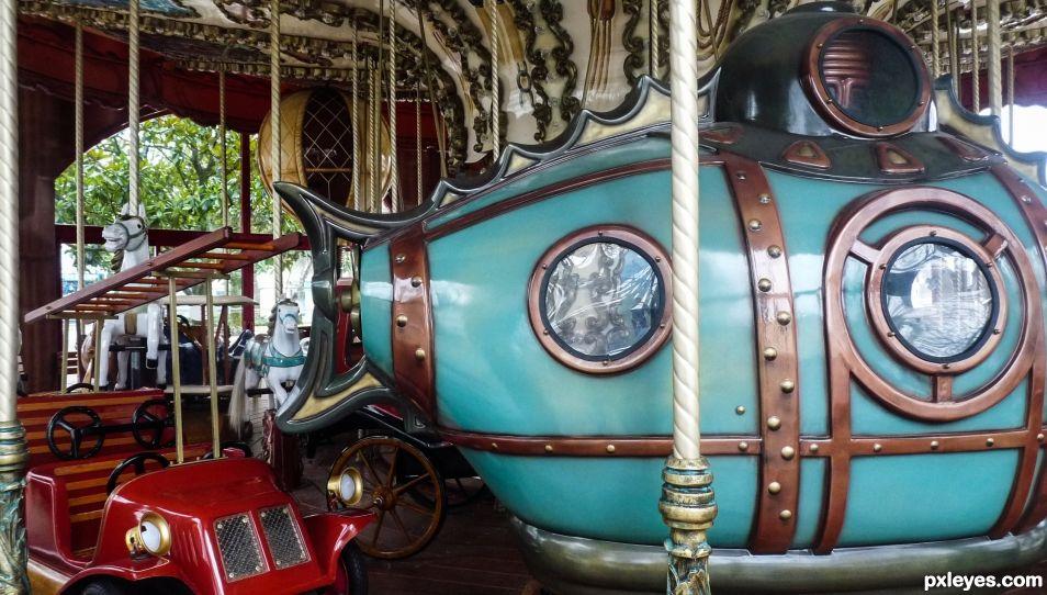 Steampunk carousel