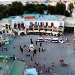 tilt shift amusement park Picture