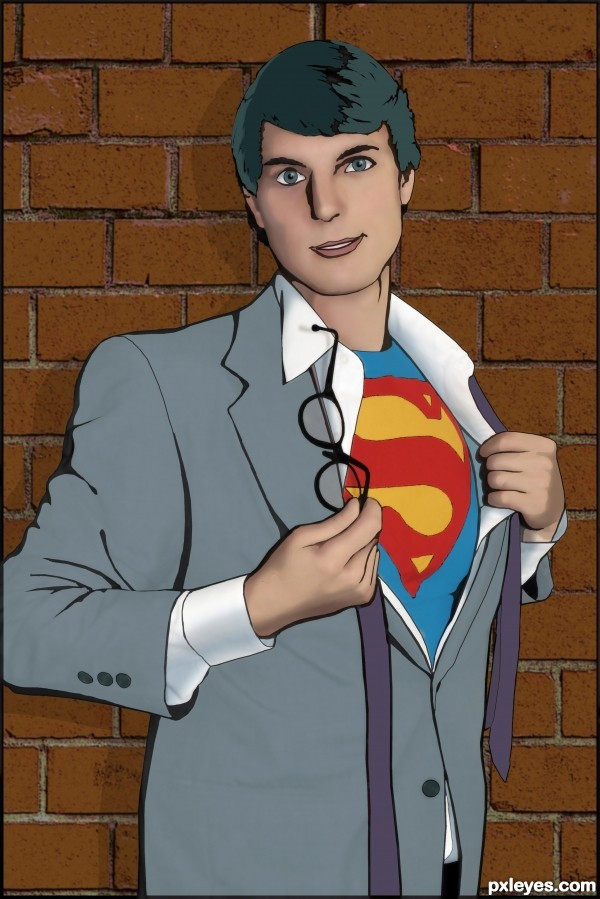 clark kent picture  by cmyk46 for  cartoon effect
