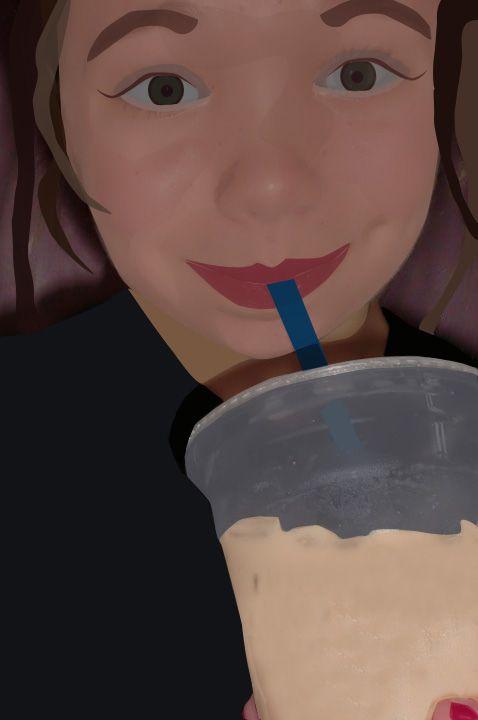 Iced coffee = Happy Teen