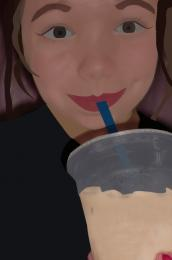 Iced coffee = Happy Teen  Picture