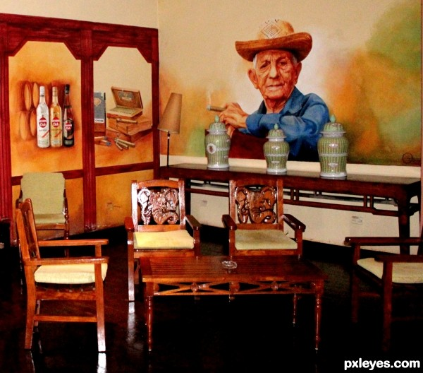 Carved Chairs in Cuba