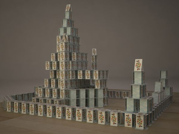 playing card castle