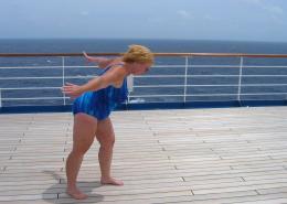 Windy Ship Deck