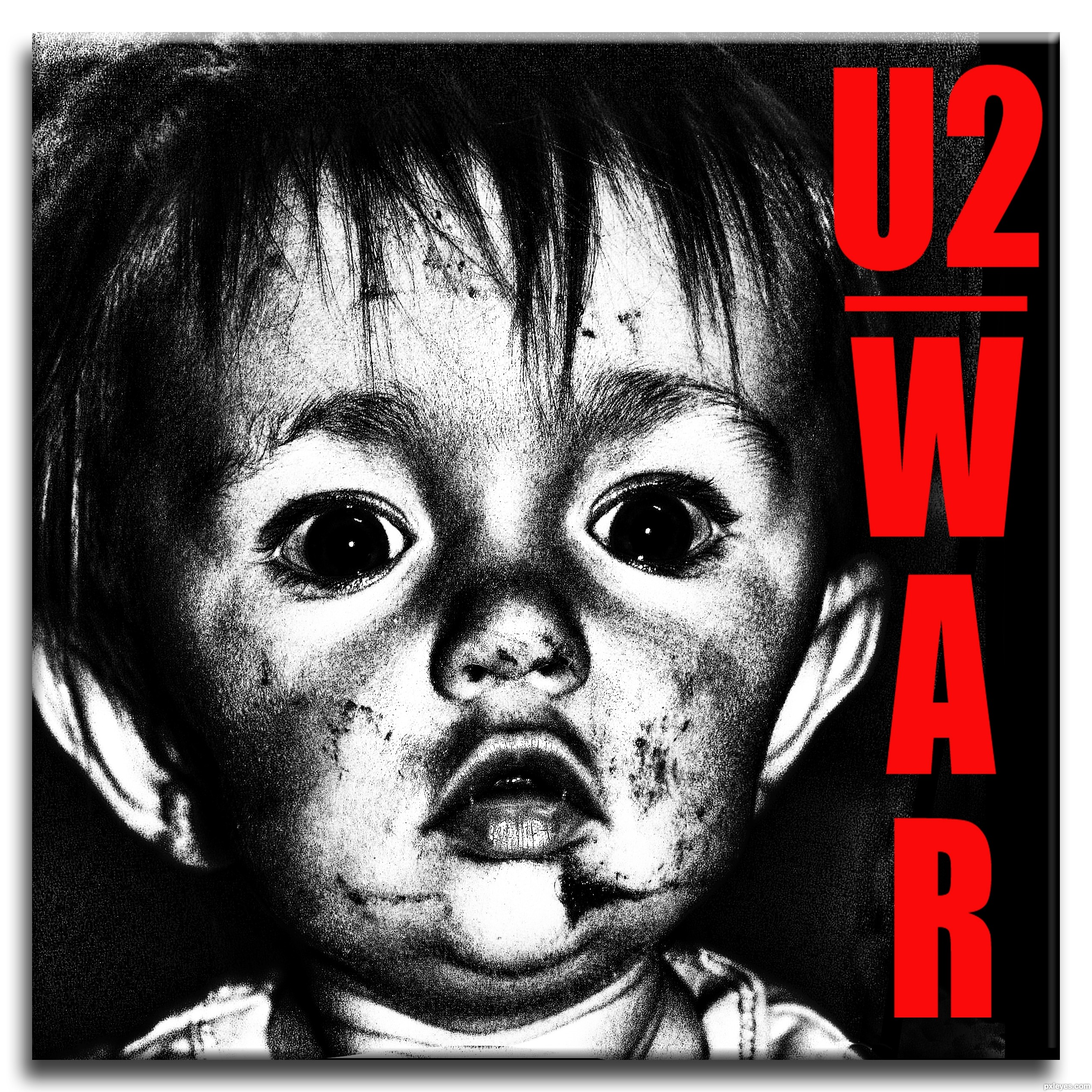 Peter rowen appears on the covers of three, war, the best of 1980-1990, and early demos