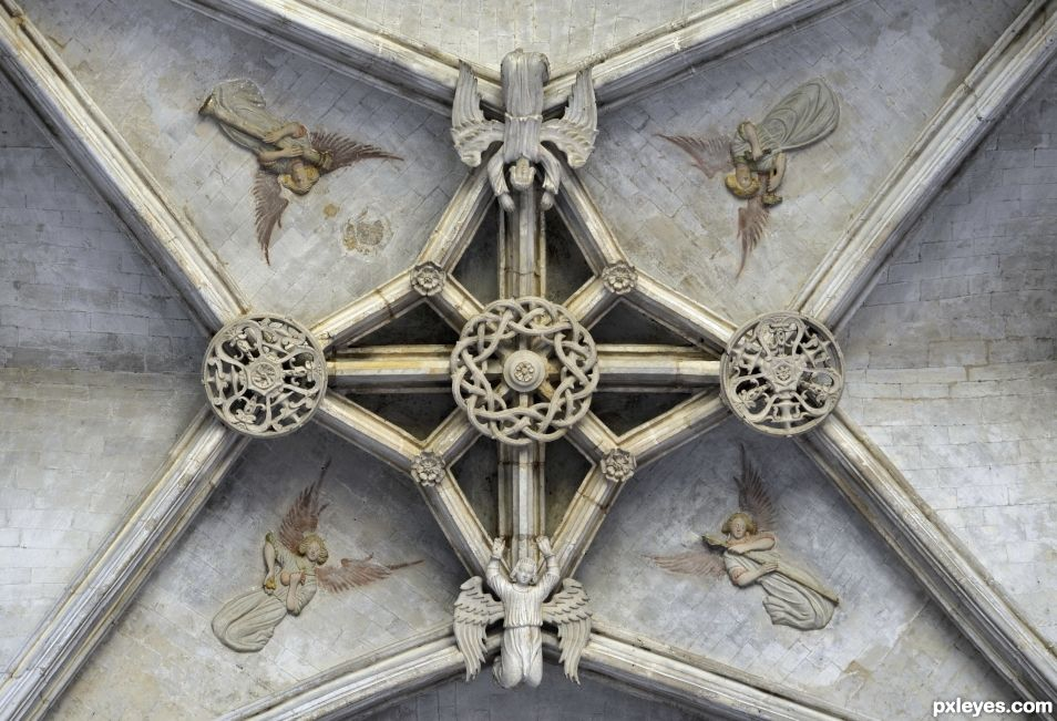 Ceiling with angels