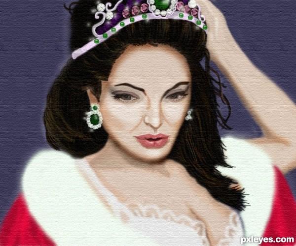 Angelina Jolie as Beauty Queen