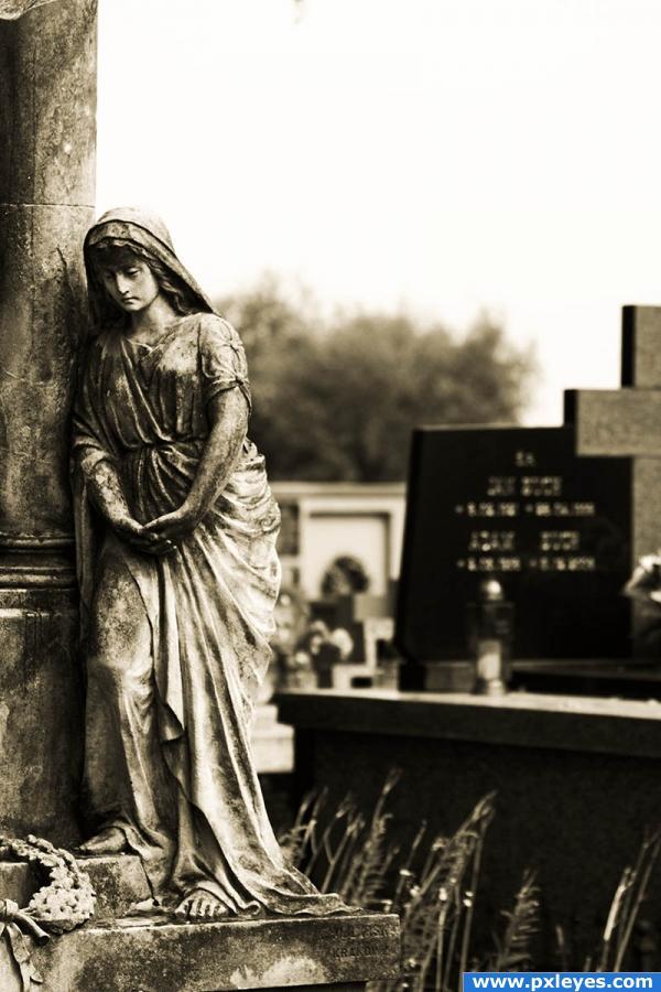 Sorrow. photoshop picture