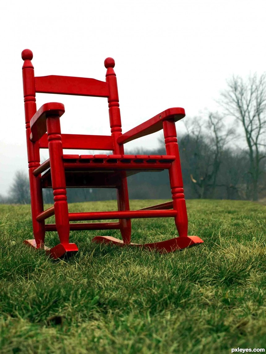 Red chair photoshop picture)
