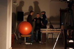 Pilates ball sat on a chair