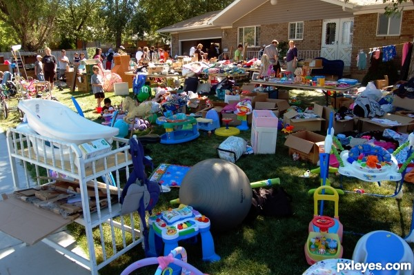 Busy Yard Sale