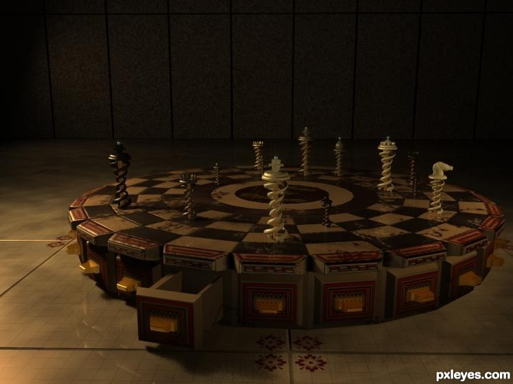 Chess Picture By Closedeyes For Chess Pieces 3d Contest