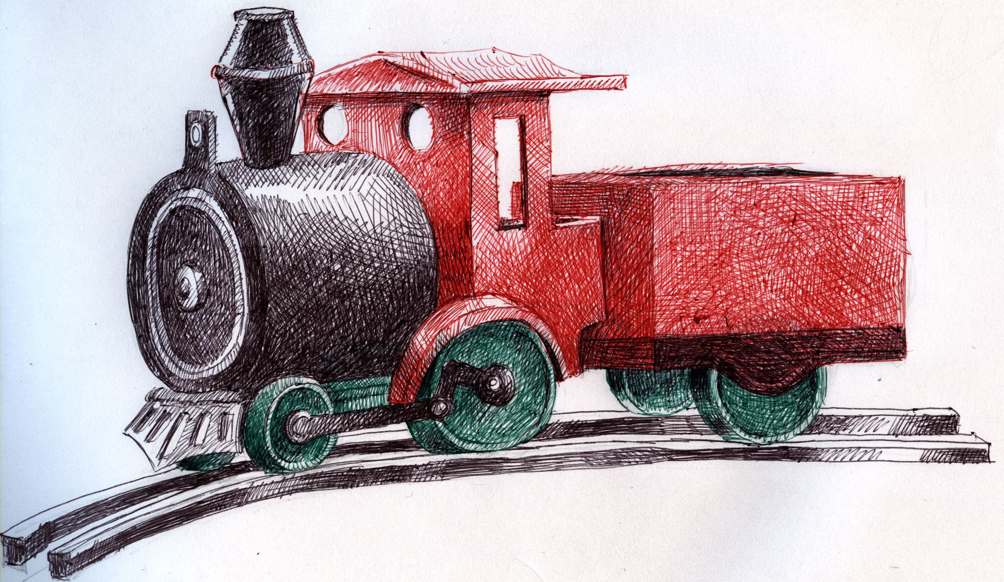 toy train picture by roon for childrens toys drawing contest