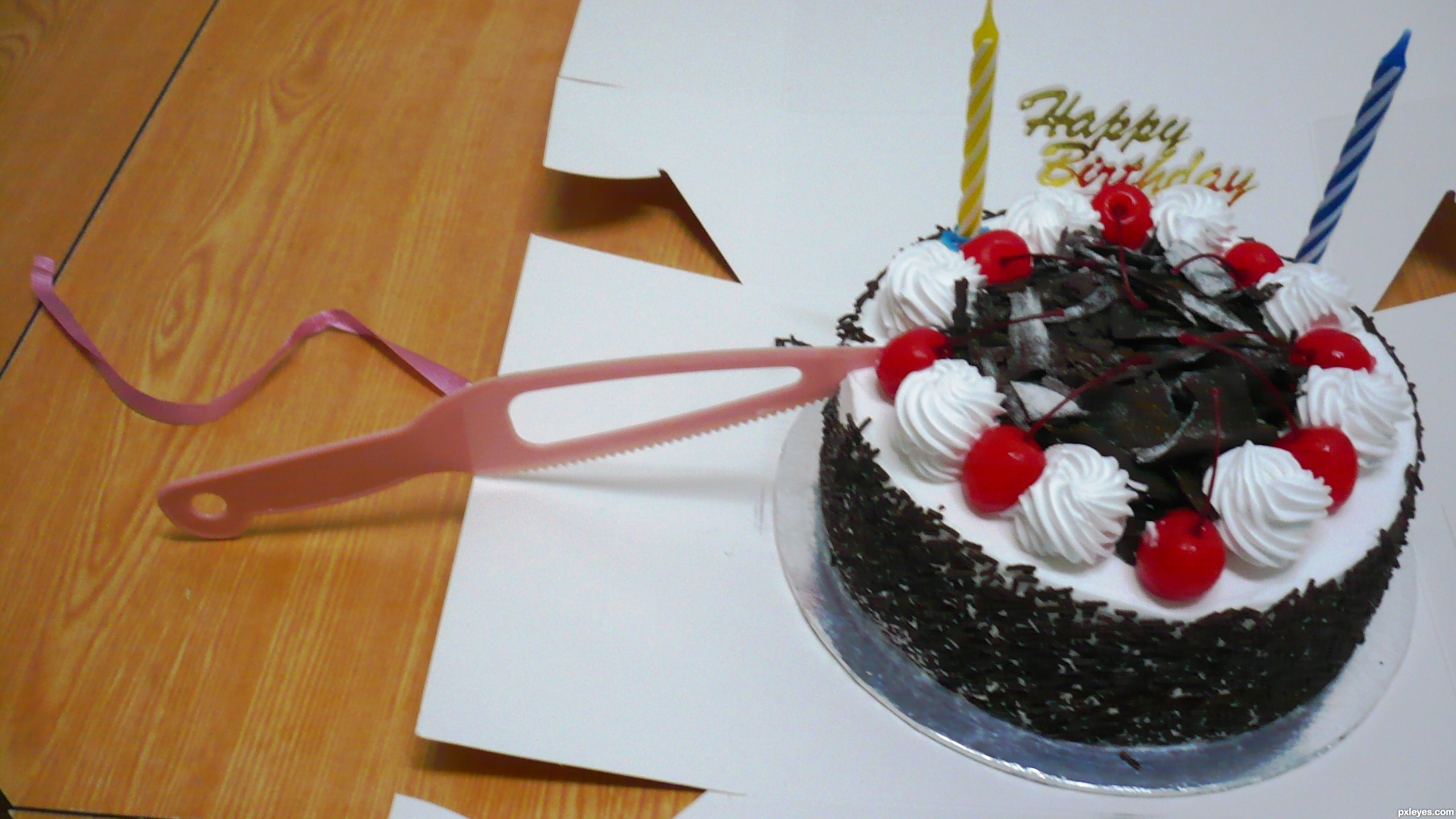 BIrthday cake! - created by LEEBAOREN