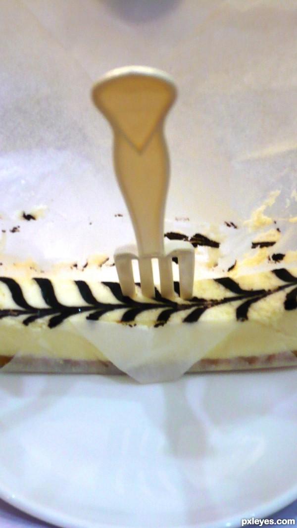 Stuck in small cake!