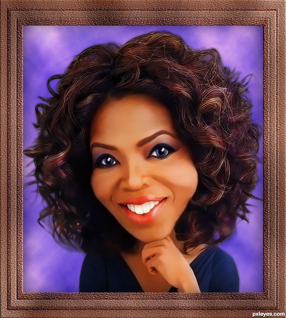 Oprah  Caricature.