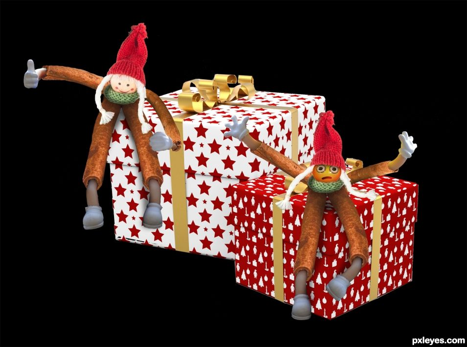 Christmas Cinnamon Gremlins