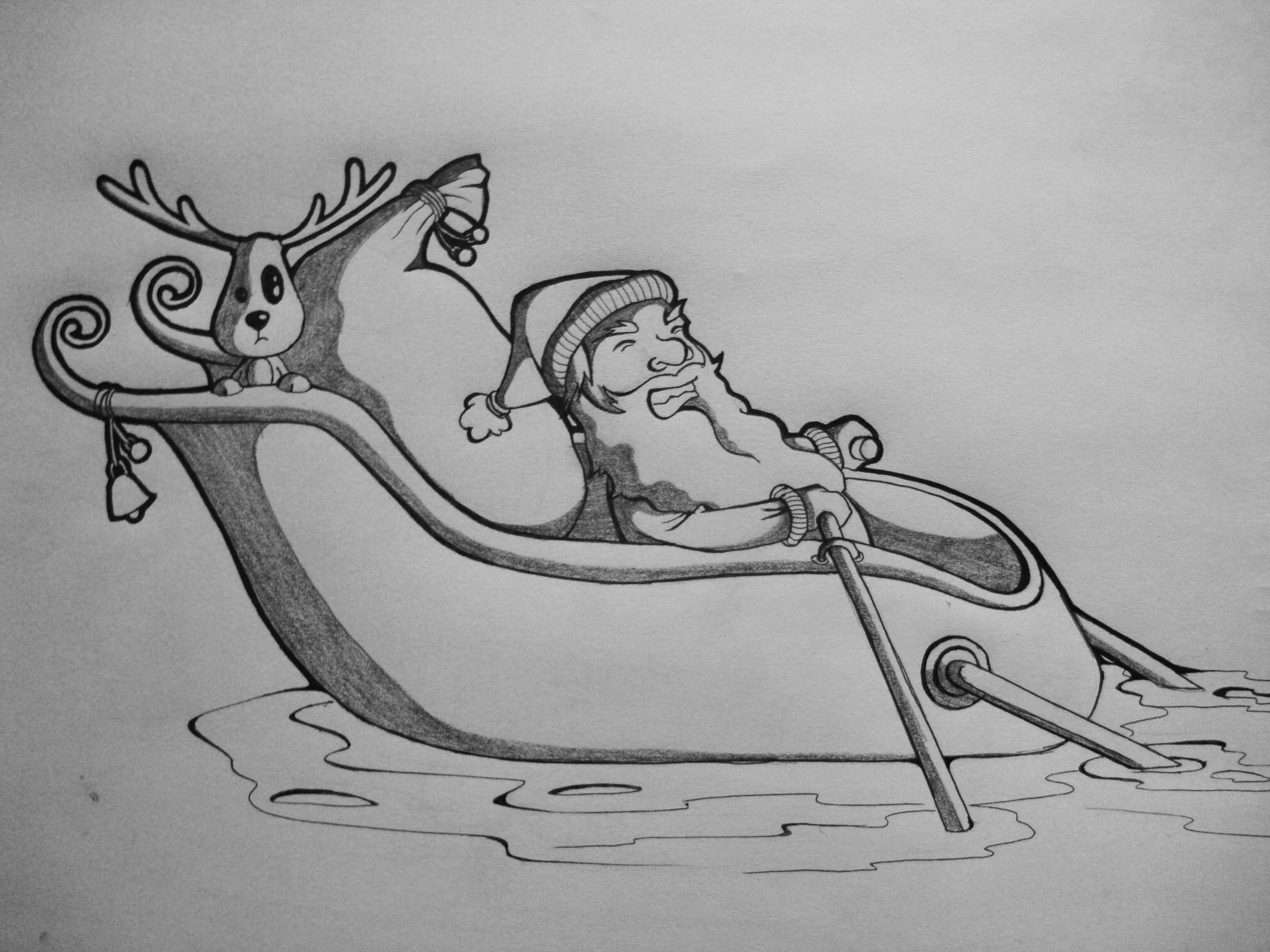 Christmas Drawing.Stop Global Warming Picture By Lky For Christmas