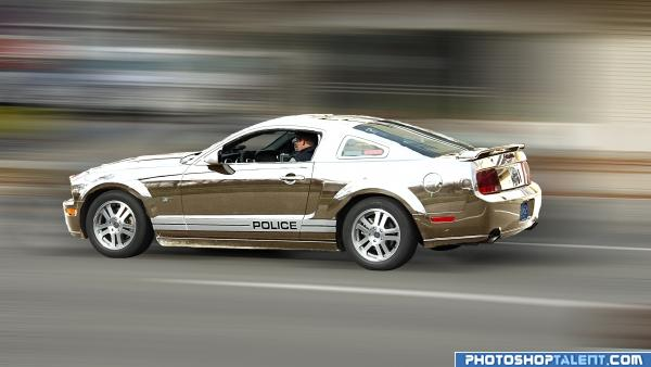 chrome police car