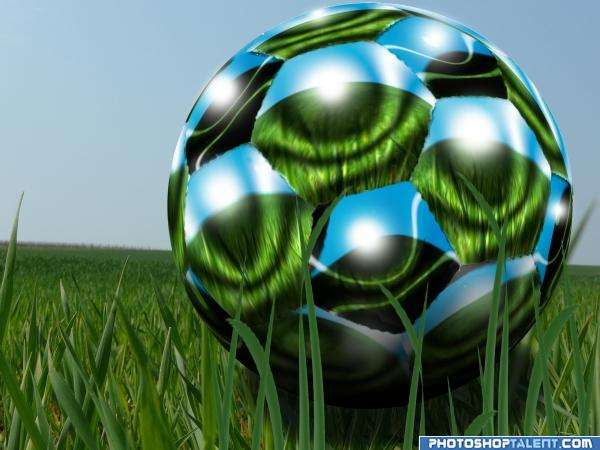 how to make a soccer ball in photoshop