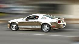 chrome police car Picture