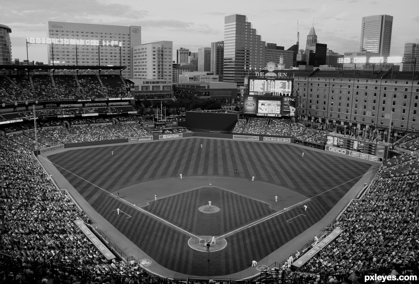 Camden Yards photoshop picture)