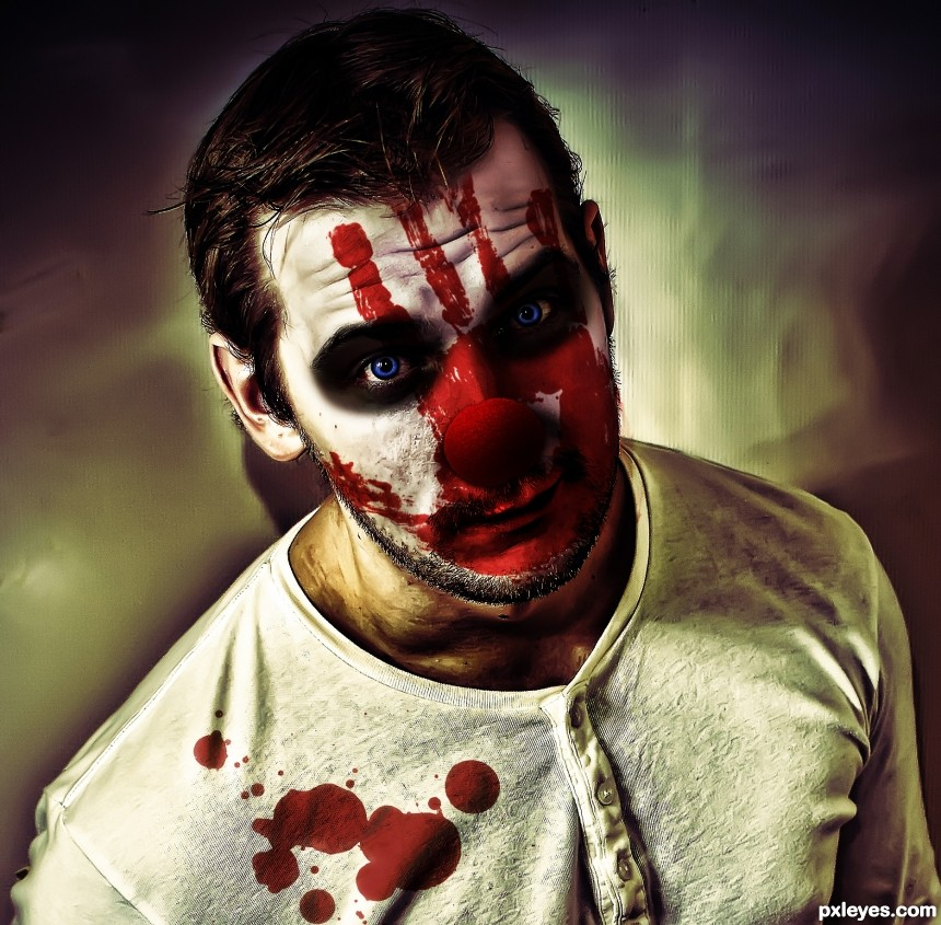 Bloody Clown photoshop picture)