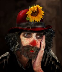 Portrait Of An Old Clown