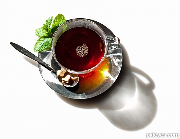 Tea for relax photoshop picture)