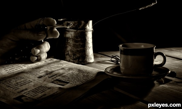 Turkish coffee photoshop picture)