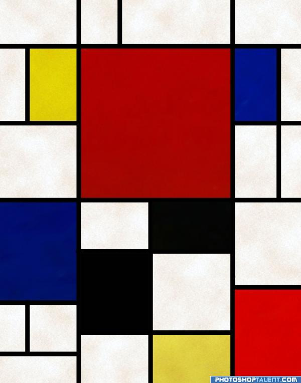 Mondrian picture by tapiona for color samples photoshop for Minimal art opere