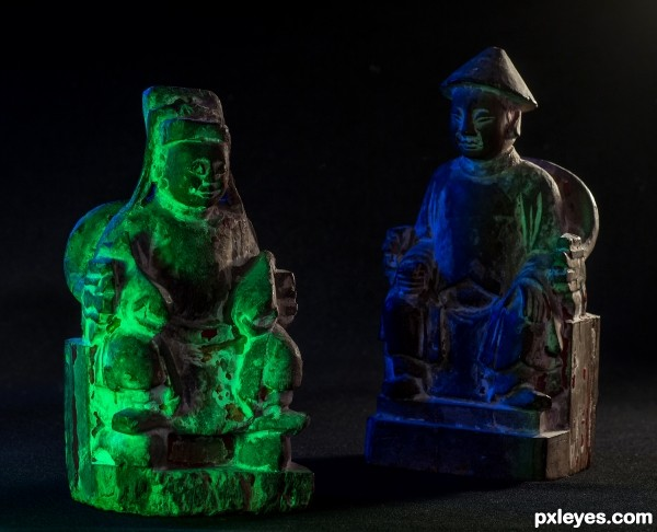 Chinese wood carvings