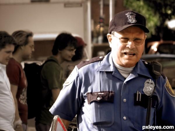 cop photoshop picture