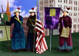 Suffragetteswithflag