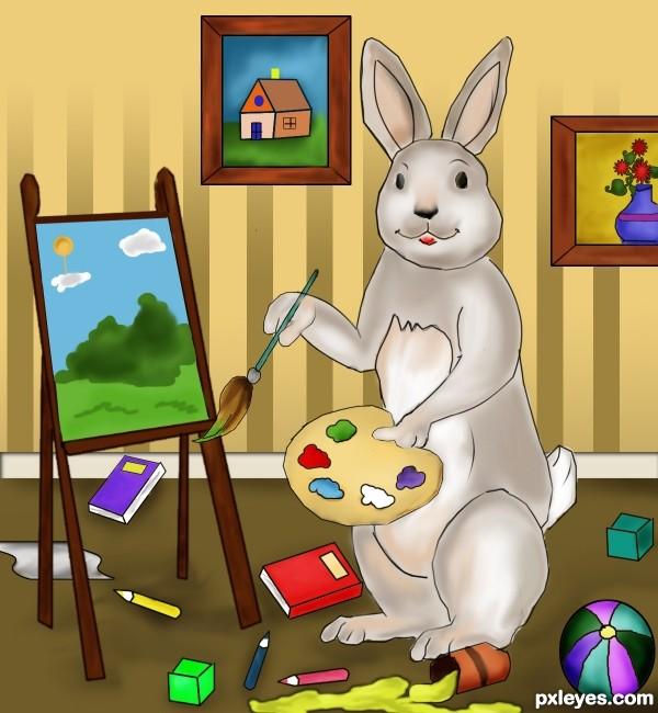 Messy Rabbit Painter