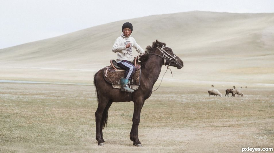 In the Steppes of Central Asia