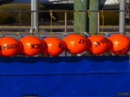 OrangeFloatsBlueBoat