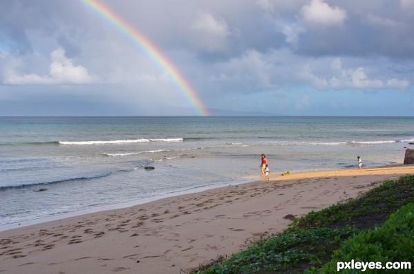 Rainbow + Sand