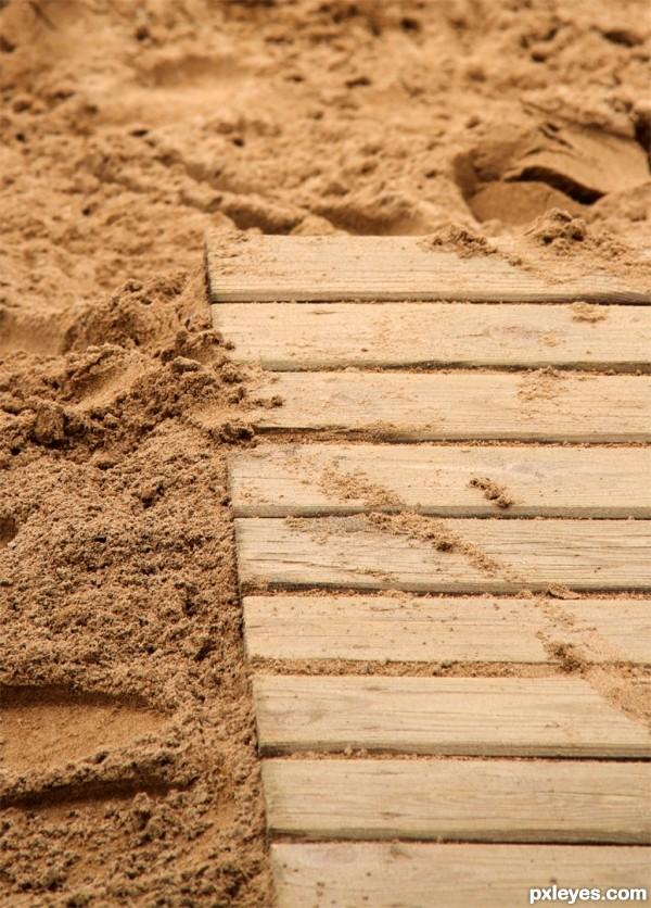 Sand & wood